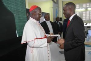 C'est l'archevêque de Kinshasa, le cardinal Laurent Monsengwo qui s'était chargé de la bénédiction de l'ouvrage de 231 pages